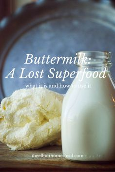 Buttermilk: a Lost Superfood Whole Food Recipes, Cooking Recipes, Cooking Tips, Kefir Recipes, Dairy Recipes, Yogurt Recipes, Copycat Recipes, Homemade Cheese, Homemade Yogurt