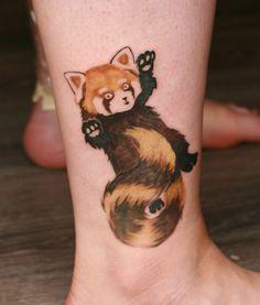 Red Panda Tattoo by Angelique Grimm by Angelique-Grimm.deviantart.com on @deviantART
