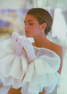 Exquisite - Young Cindy C Wearing The Most FabuLUXE Gloves Everrrrr -ShazB..via weddingswithzsazsa