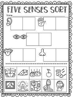 Five Senses Ultimate Pack - Corps et Cinq sens (Thématique) - kind Five Senses Kindergarten, Five Senses Preschool, 5 Senses Activities, My Five Senses, Preschool Learning Activities, Homeschool Kindergarten, Preschool Printables, Preschool Science, Preschool Lessons