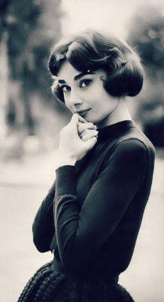 36878988 Audrey Hepburn photographed by Sam Shaw, Paris, France, 1957 Audrey Hepburn  Eyebrows,