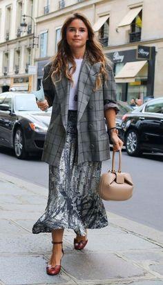 Miroslava Duma with a Gabriela Hearst bag.