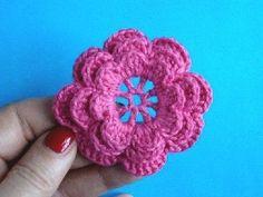FREE VIDEO ~ TUTORIAL IN RUSSIAN Crocheted flowers Lesson 5 Irish Crochet Flower Flower Pattern