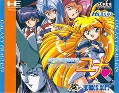 Galaxy Fraulein Yuna PC Engine SuperCD Box Art