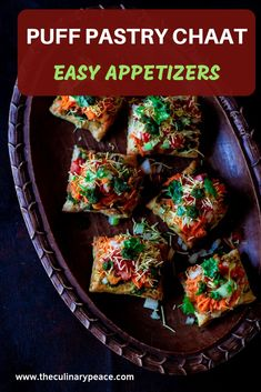 A perfect cocktail snack for those dinner parties. Ingredients include vegetables, mixture, boondi, alu bhujia and scrumptious toppings! Veg Appetizers, Puff Pastry Appetizers, Best Party Appetizers, Indian Appetizers, Indian Snacks, Indian Food Recipes, Appetizer Recipes, Snack Recipes, Indian Vegetarian Appetizers For Party