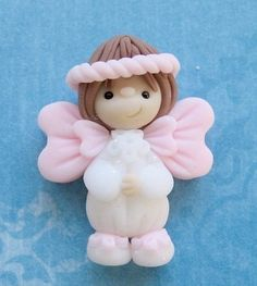 Angel Polymer Clay Bead Flat Back Embellishment by DesignsByWho