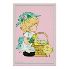 Annabella's Easter Basket d2 Wall Artwork Print