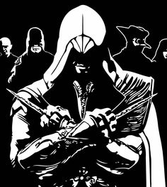 "[O] ""Assassin's Creed"" - Ezio Auditore, Video Game, Italy, Renaissance, Single layer stencil template."