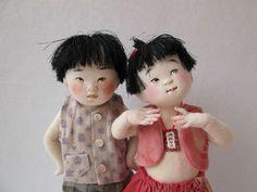 Mieko Minazumi Japanese Girl and Boy One of A Kind Art Dolls 1999 | eBay