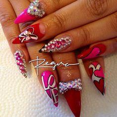 valentine by nailsbyregina #nail #nails #nailart