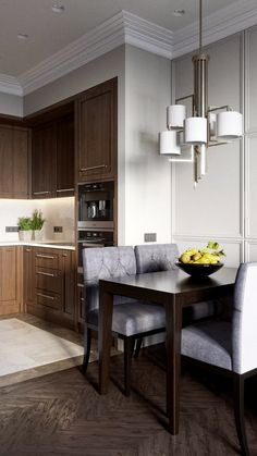 36 Stylish Open Dining Room And Kitchen Layout Design Ideas Kitchen Layout, New Kitchen, Kitchen Decor, Beautiful Kitchen Designs, Beautiful Kitchens, Kitchen Banquette, Interior Desing, Home Decor Accessories, Home Kitchens