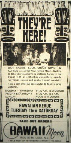 Hawaii Moon Restaurant in Lodi -1972