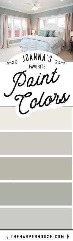 Joanna Gaines favorite paint colors | Fixer Upper paint colors | Modern Farmhouse paint colors | best neutral paint colors via The Harper House