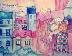 «Когда я с тобой, ты — мой единственный дом» 15теплых иллюстраций сноткой питерской романтики