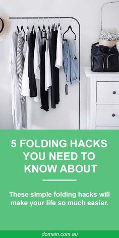 Getting into the habit of folding all your clothes the same way means that you can then stack, organise and easily locate your belongings (Just ask Marie Kondo). Here are a few simple methods that will both save space and preserve the item for crease-free wearing.