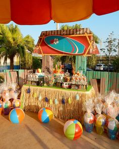 LOVE it!!!  Surf Shack party theme.                                                                                                                                                                                 More