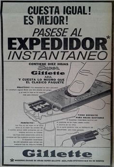 """El """"expendedor automático"""" para hojitas de afeitar... práctico para evitar cortes en los dedos."""