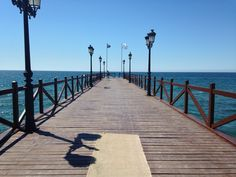 What a beautiful pier in Marbella!