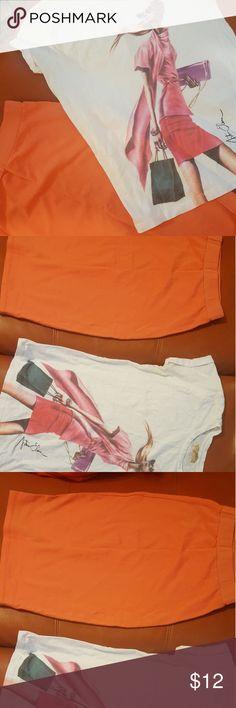 Brand new shirt and skirt set Zara shirt and spandex skirt Zara Terez Other