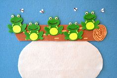 Storytime theme: FrogsBooks used:Beware of the Frog by William BeeI know you've heard of a guard dog before, but what about a guard frog? Flannel Board Stories, Felt Board Stories, Flannel Boards, Story Time, Pre School, Frogs, Puppets, Sewing Patterns, Felt Boards