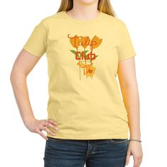 Tulip Club Gardener Women's Light T-Shirt, editable text and monogram, for personalized gifts.