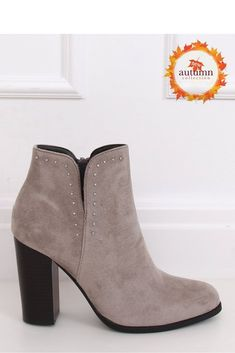 Stiefeletten mit Absatz ID 146812 Inello Heeled Boots, Mode Online, Heels, Booty, Ankle, Grey, Products, Fashion, High Heel Boots