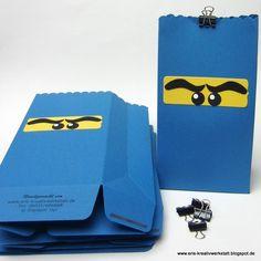 Ninja-Tüten zum #Kindergeburtstag   http://eris-kreativwerkstatt.blogspot.de/2016/07/ninjago-tuten-zum-kindergeburtstag.html  #stampinup #teamstampingart #geburtstag #verpackung #giveaway