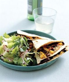 Kitchen-Sink Quesadillas | Get the recipe for Kitchen-Sink Quesadillas.