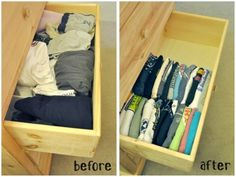 Make More Room In Your Dresser! File Your Tee shirts Instead If stacking Them.