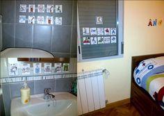 EJEMPLOS DE USO DE LOS SAAC EN CASA - Rutinas.    Adaptación de distintos espacios de la casa con las rutinas correspondientes.    FUENTE: http://losojosdeangel.blogspot.com.es/2012/04/pictografeando.html