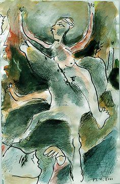 """""""1ο noumero με alogo""""... ενας θεατης φανταζει να απορει με to skiniko. Abstract, Artwork, Summary, Work Of Art, Auguste Rodin Artwork, Artworks, Illustrators"""