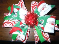 Check out this item in my Etsy shop https://www.etsy.com/listing/253152148/christmas-hair-bow