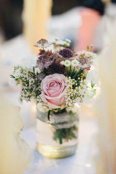 wildflower table arrangements reception