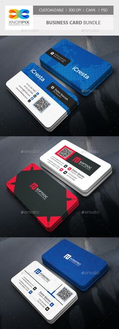 Business Card Bundle Business cards and Corporate business - id card psd template