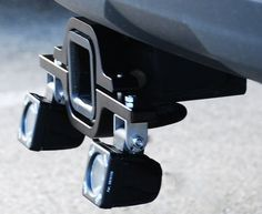 Hitch Receiver Backup Light Adapter Mount - I would put the lights on top of the brackets or in a tire carrier for that matter.