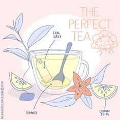 #illustration #paleanddelicate #tea #earlgrey