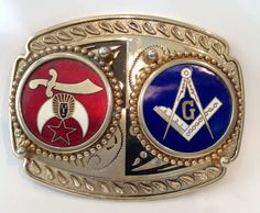 Retro Masonic Lodge Shriner Buckle Vintage by RetroScents on Etsy, $25.00
