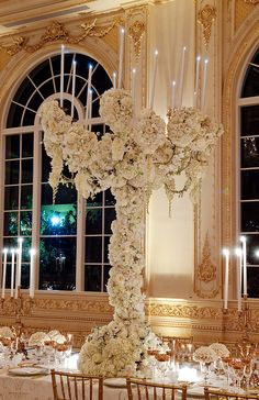 Centerpieces for White Wedding Reception | Inspirations from the Preston Bailey Design Team