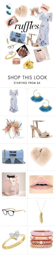 """Ruffle my feathers x"" by catyjane07 ❤ liked on Polyvore featuring Temperley London, Gas Bijoux, Eugenia Kim, Rafaella, Pinko, Mr & Mrs Italy, Abercrombie & Fitch, BOSS Hugo Boss, Sequin and Adolfo Courrier"