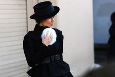 FUR ACCESSORIES: HOODS, SHOES, GLOVES, BAGS, POOFY THINGS | Street Peeper | Global Street Fashion and Street Style