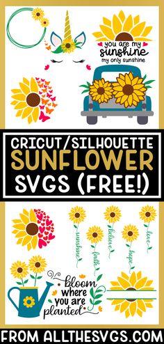 Cricut Sunflower Decal Flower Flourish SVG Summer Doodle Spring clipart Swirl Daisy Cutfile silhouette Love