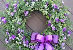 Spring Wreath Purple Floral Wreath Violet by TheTangledTreehouse, $84.00