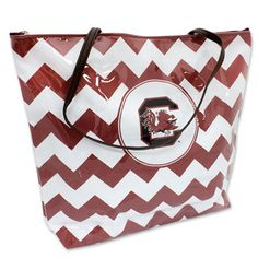 South Carolina Gamecocks Chevron Tote #gamecocks #chevron