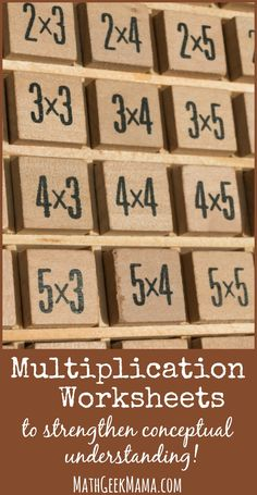 Don't just encourage kids to memorize the times tables. Help them to understand the concepts deeply and explore multiple representations of multiplication. These fun activities provide hands on and visual models for kids to understand multiplication.