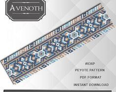 Peyote bracelet pattern, peyote pattern, stitch pattern, pdf file, pdf pattern, #036P