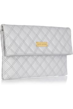 Marc Jacobs|Large Eugenie quilted leather clutch|NET-A-PORTER.COM