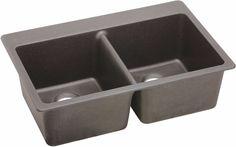 Elkay Gourmet E Granite Drop In Sink Greige Elg3322gr0 Sink Double Bowl Kitchen Sink Composite Kitchen Sinks