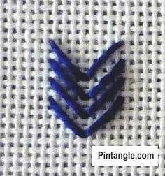 Arrow or Arrowhead stitch