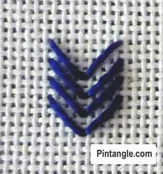Arrow or Arrowhead stitch