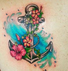 ~ TATTOO ART ~ Anchor tattoo design